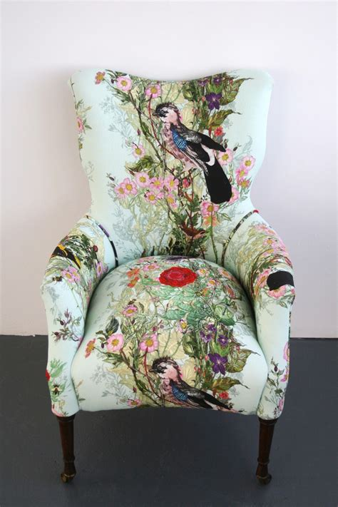 Fabric Upholstery Furniture by Swooning These Timorous Beasties Chairs Fabric