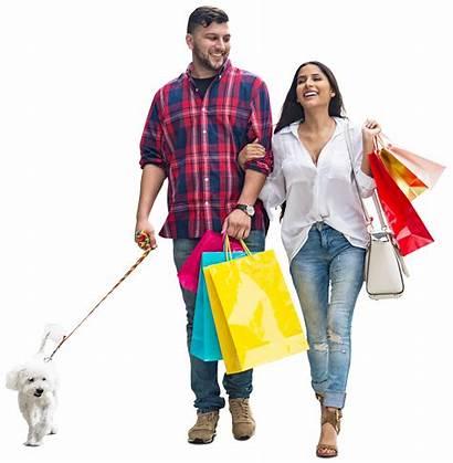 Mrcutout Walking Couple Dog Cutout Shopping Cut