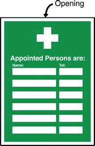 First Aid Sign Template