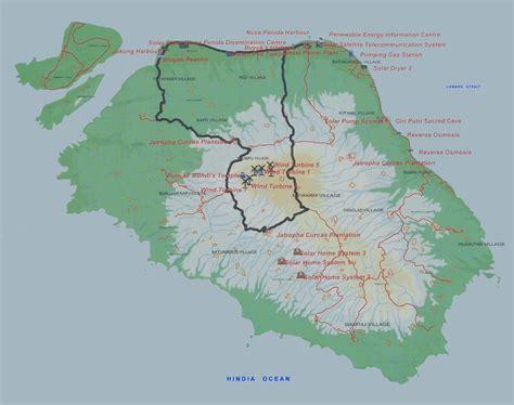 map  nusa penida  map  part  saptekawordpress