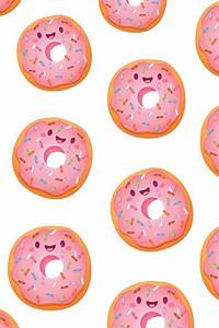 background, cute, donuts, food, hipster, pink, wallpaper ...