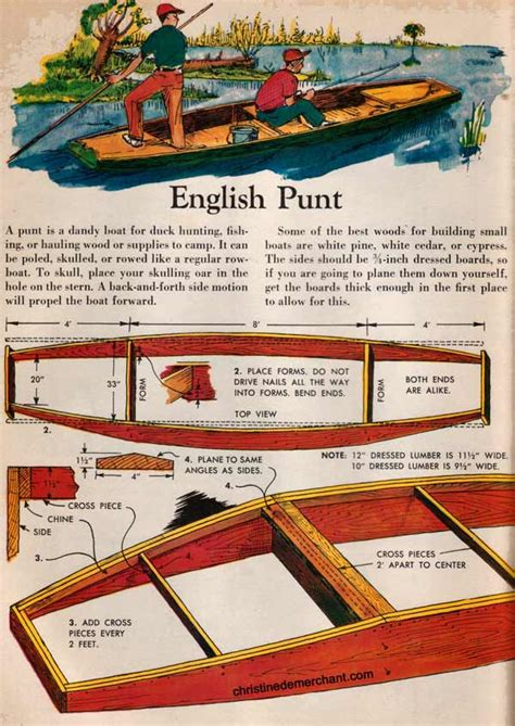 plans  build  english style punts    childrens book
