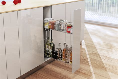 Kitchen Storage : Pull Out Soft Close Wire Basket Kitchen Storage Unit