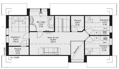plan maison ossature bois plain pied gratuit awesome catalogue plain pied scandinavia maison ossature bois plan en gratuit chambres with plan