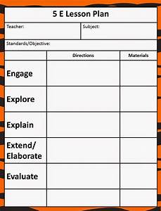 queen of the jungle the 5e model our new lesson plans With five e lesson plan template