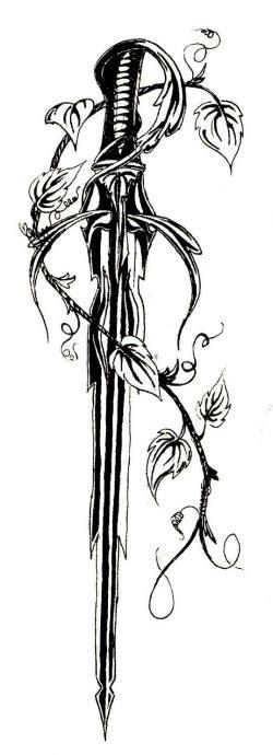 fantastic sword tattoo designs