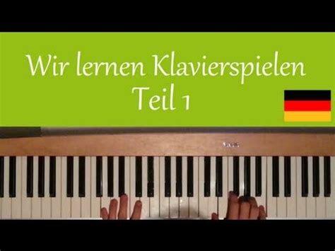 Klaviatur für pianos und flügel; Klavier lernen für Anfänger (deutsch) #1 - YouTube ...