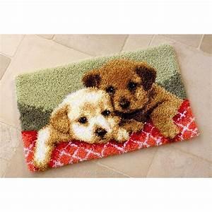 Canevas Pour Tapis : vervaco tapis point noue complicit de chien ~ Farleysfitness.com Idées de Décoration