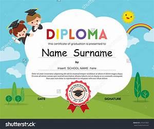 stock-vector-preschool-elementary-school-kids-diploma ...