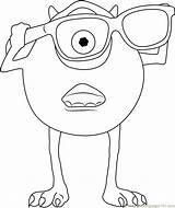 Sunglasses Wear Coloring Mike Pages Printable Getcolorings Monsters Inc Coloringpages101 sketch template