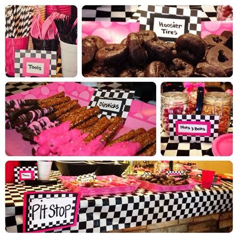 cuisine girly girly race car birthday food completed