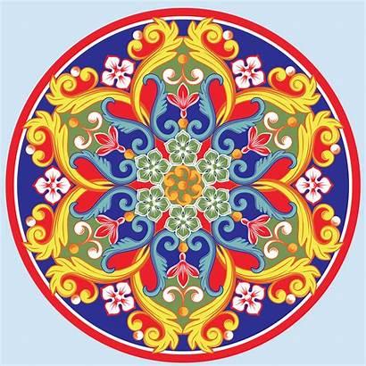 Mandala Vector Colorful Round Ethnic Ornamental Illustration