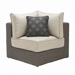 ae outdoor hillborough 4 piece all weather wicker patio With home depot sectional sofa outdoor