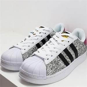 Zapatillas Adidas Superstar Glitter Plateado
