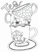 Coloring Pages Decorative Teapot Tea Printable sketch template