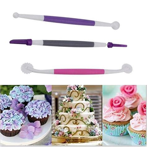 pcsset colorful fondant brush cake decorating tools