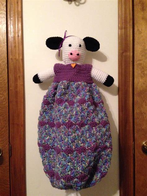 plastic bag holder    crochet