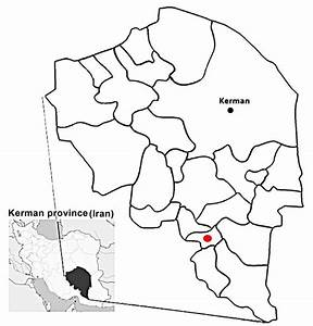 Geographic Map Of Kahnooj In South Of Kerman Province  Red