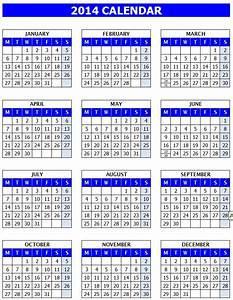 14 full 2014 year calendar template images printable for 2014 full year calendar template