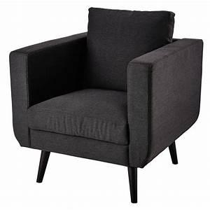 Tissu Gris Chiné : fauteuil en tissu gris anthracite chin noa maisons du monde ~ Teatrodelosmanantiales.com Idées de Décoration
