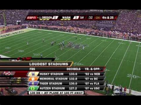 loudest college football stadium youtube