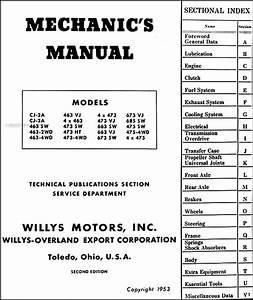 1946-1953 Willys Repair Shop Manual Original