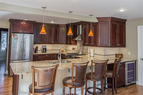 top  granite countertops  complement cherry