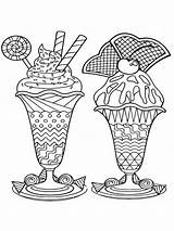 Coloring Pages Ice Cream Adults Zentangle Adult Mycoloring Printable sketch template