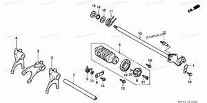 Honda Motorcycle 2006 Oem Parts Diagram For Gearshift Drum