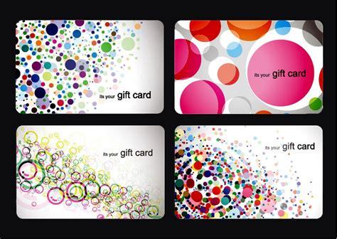 Gift Card Template Modern Gift Card Templates Vector Set Free Vector