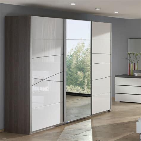 chambre b b grise et blanche armoire de chambre blanche armoire 2 portes miroir 180cm