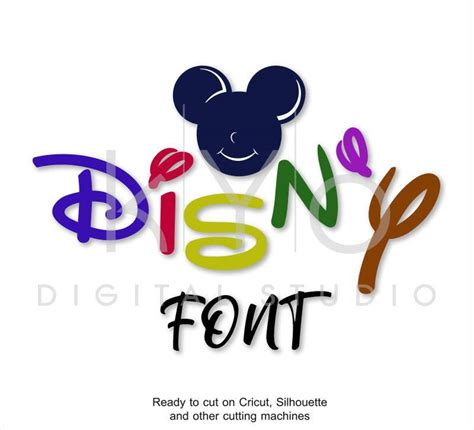 disney font svg alphabet letters bundle cut files  cricut design sp kyo digital studio