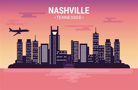 Nashville Tennessee Landschaft by Nashville Landscape Free Vector Stock