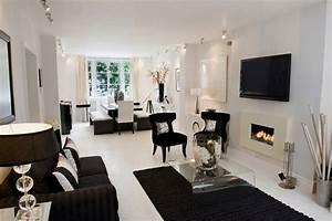 black and white living room interior design ideas With black and white living room decor