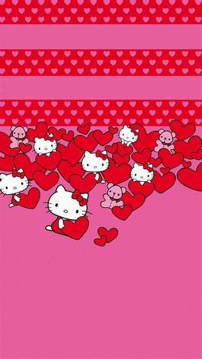 Kitty Hello Wallpapers Iphone Hearts Valentines Screensavers