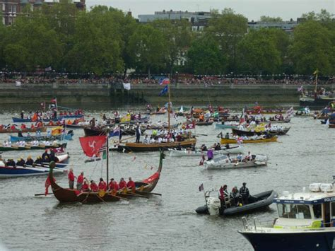 Where Are Heyday Boats Made by Thames Jubilee Pageant Enjoying The Spectacle