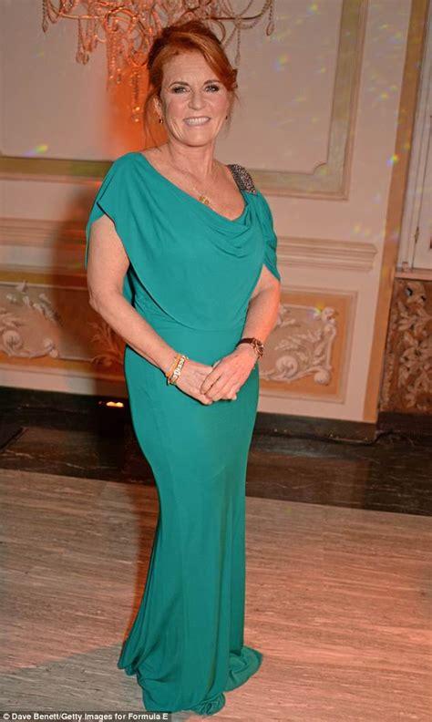 Sarah Ferguson, 58, looks elegant in teal coloured dress ...
