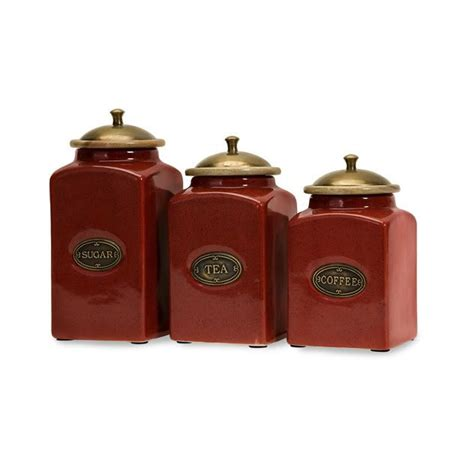country kitchen canisters country s 3 canister set ceramic kitchen tuscan
