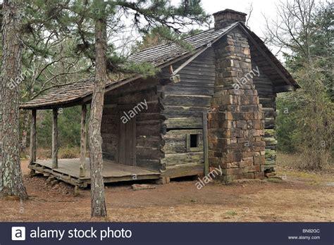 log cabins in arkansas pioneer cabin petit jean state park arkansas stock