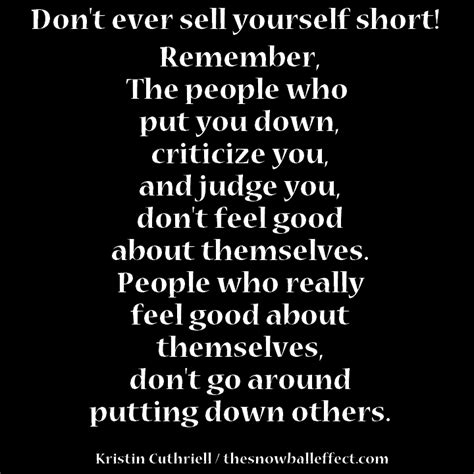 Don Sell Yourself Short Quotes