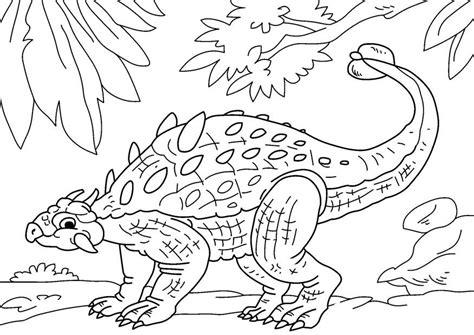 age si e auto kleurplaat dinosaurus ankylosaurus afb 27630
