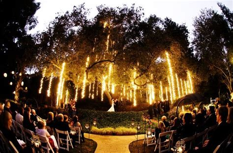 evening wedding with lighting outdoor wedding ideas