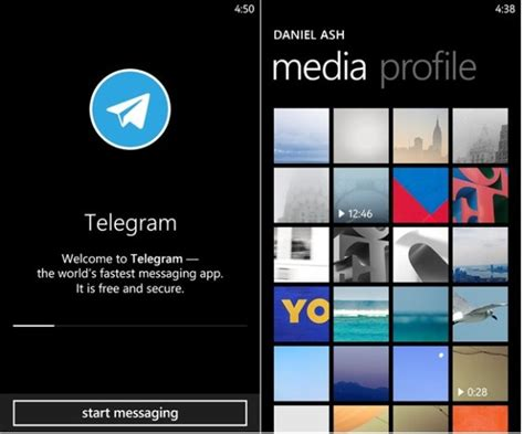 telegram messenger app updated with fast resume paused resume cache management and