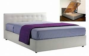 Hauteur Tete De Lit : lit coffre seyun haut de gamme avec tete de lit 140 190 cm ~ Teatrodelosmanantiales.com Idées de Décoration