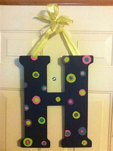 wooden letter decor my creations pinterest wooden With wooden letter decorations for nursery