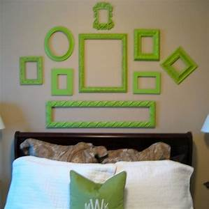 Decorating with old picture frames money saving wall
