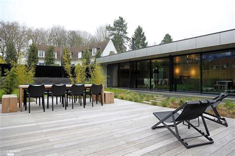 plan maison 2 chambres maison contemporaine avec patio hornoy architectes côté