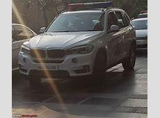 Indian police BMWs in Mukesh Ambani's security detail