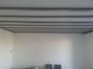 Pose De Placo Sur Rail : r alisation d 39 un faux plafond en placo ba 13 pos sur ~ Carolinahurricanesstore.com Idées de Décoration