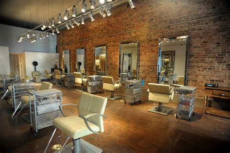 Barber Shop Room Ideas by The New River North Salon Which Features Exposed Brick